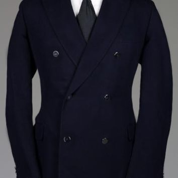 Vintage 60s Liberty Of London Bespoke Navy Wool Blazer/Jacket 42 R Monkey Suit