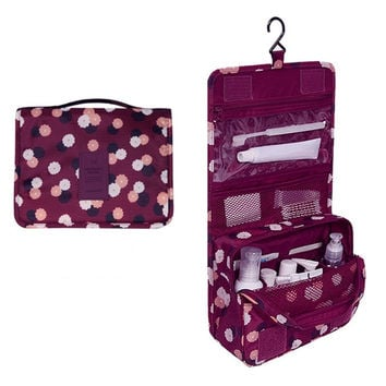Women's Men's Hanging Cosmetic Bags Travel Toiletry Makeup Case Wash Storage Pouch Beautician Organizer Accessories Supplies