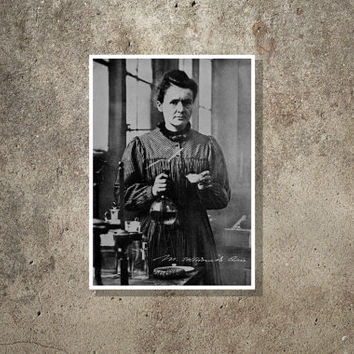 Science art - Marie Curie - Super Stars of Science poster series