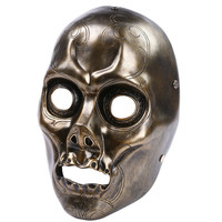Harry Potter Theme Mask Bronze Death Eater Resin Mask hand made Horror Cosplay Halloween skull party mask