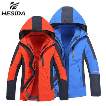 2018 Winter Fishing Windbreaker Men Waterproof Jacket Hiking Impermeavel Fleece Jackets Women Coat Sport Suit Camping Sportswear