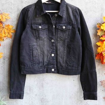 Free People - Rumors Denim Jacket - Black