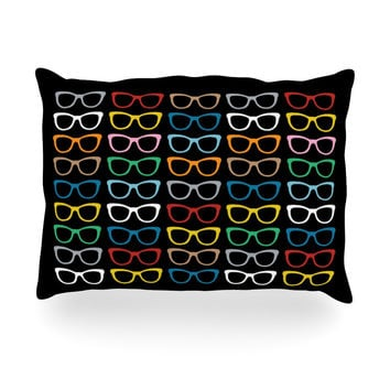 "Project M ""Sun Glasses at Night"" Oblong Pillow"