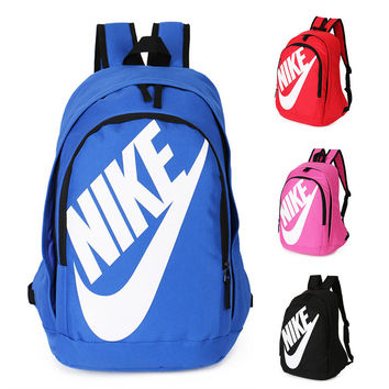 "shosouvenir : ""Nike"" Fashion Letters Sports backpack (7 color) Sapphire Light blue"