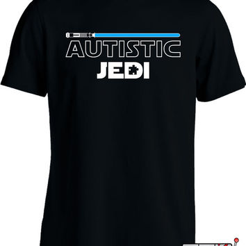 Autism Awareness Shirt Autistic Jedi T-Shirt Autism T Shirt Advocate Puzzle Piece Youth Mens Tee MD-353