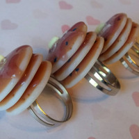 pancake trio ring set by ScrumptiousDoodle on Etsy