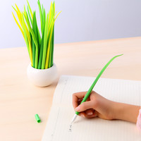 1 Pc Tiny Green Grass Gel Pen Blade Grass Potting Decoration Zakka Stationery Caneta Office Supplies Material School