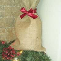 Christmas Santa Sack - Bag - Christmas Gift Bag - Wrapping - Set of 2