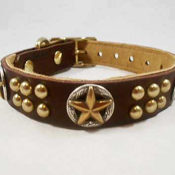 Custom Leather Dog Collar  The Touch of by SpoiledDogLeatherCo