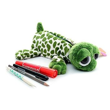 Cartoon Animal Plush School Pencil Bag Pen Case Comestic Makeup Pouch 11'' (turtle)