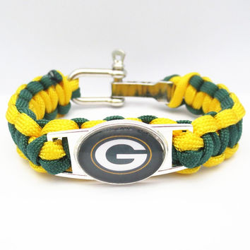 Green Bay Packers Paracord Bracelet