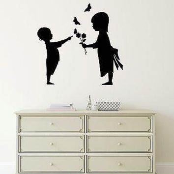 Wall Stickers Vinyl Decal Cute Kids Couple Friendship Love Decor Unique Gift (ig197)