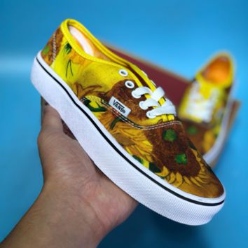 DCCK2 Vans sk8-hi REISSUE Low Flower Board Casual Trend Skate shoes Yellow