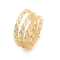 Stacking ring , custom made wire crocheted ring