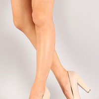 Bamboo Netty-01 Leatherette Pointy Toe Pump