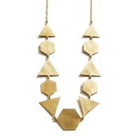 MONOQI | Hexagon Triangle Necklace