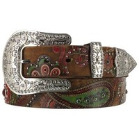 Nocona Belt Co Women's Floral and Paisley Print Belt
