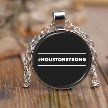 """#HOUSTONSTRONG HASHTAG HOUSTON STRONG * 18"""" Adjustable Rolo Style Chain Necklace"""