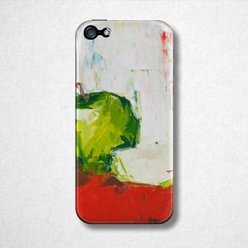 Green Apple - Fruit Phone Case  - iPhone 4 Case - iPhone 5 Case - Samsung Galaxy - Oil Painting - Phone Accessories - Back to School