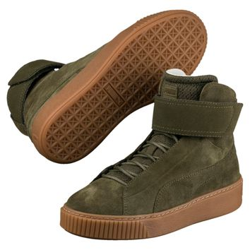spbest PUMA PLATFORM MID OW WOMEN'S HIGH TOP - Olive Night-Olive Night