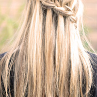 "...love Maegan: Partial French Braid with Cascading Hair ~ Tutorialalso known as the ""Waterfall Braid"" 