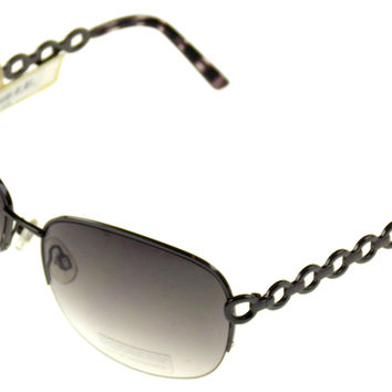 Levi Strauss DOCKERS Sunglasses 100% UV Oval Semi Rimless Brown Metal 65-17-125