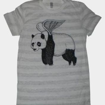 Flying Panda Womens TShirt S M L XL in 9 Colors by MisNopalesArt