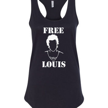 "Louis Tomlinson ""Free Louis Stencil"" Unisex Adult Long Sleeved T-Shirt"