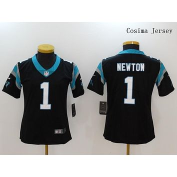Danny Online Nike NFL Jersey Women's Vapor Untouchable Color Rush Carolina Panthers #1 Cam Newton Football Jersey Black