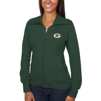 Green Bay Packers Cutter & Buck Women's Vancouver Full Zip Sweatshirt - Green -