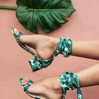 The Carrie Wrap Heel in Tropical