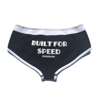 "Women's ""Built for Speed"" Briefs by Rudechix (Black)"