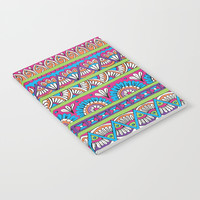 Patterned Stripes Notebook by Sarah Oelerich