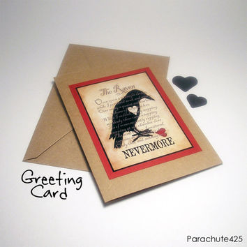THE RAVEN Greeting Card from Parachute425