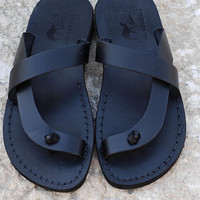Holy land of Jerusalem handcrafted leather sandals by Holysouq