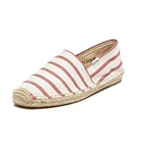 Classic Stripe Espadrille in Red and White by Soludos - FINAL SALE