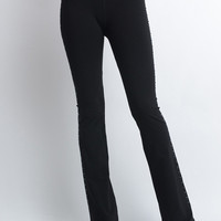 Black Rhinestone Yoga Pants