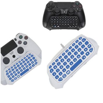 PS4 PS 4 Message Keyboard Wireless Mini Chatpad KeyPad Adapter for PlayStation 4 PS4 Slim Pro Controller Gaming Board Gamepad