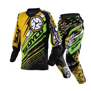 Protective Scoyco P033+T200 Sports Clothing Motocross motorcycle jersey set  racing shirt suit riding off-road pants trousers