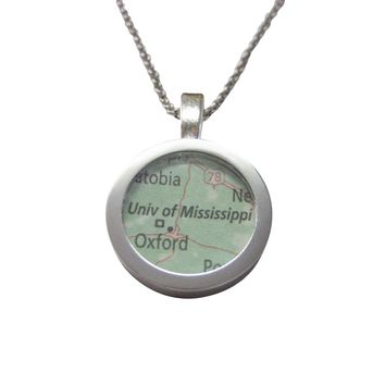 University of Mississippi Map Pendant Necklace