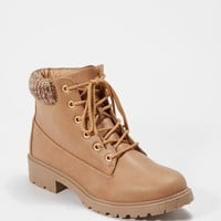 Tan Lug Knit Cuffed Hiking Boot | Hiking Boots | rue21