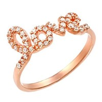 Rose Gold Plated Love Cz Ring:Amazon:Jewelry