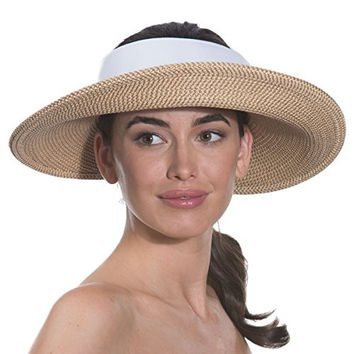 Eric Javits Women's Luxury Headwear Squishee Halo Hat (Peanut/White)