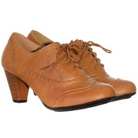 Whiskey Mill Lace-Up Oxford Heels - PLASTICLAND