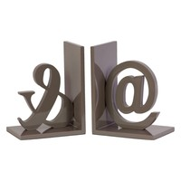 Urban Trends Wooden Symbols Bookends | www.hayneedle.com