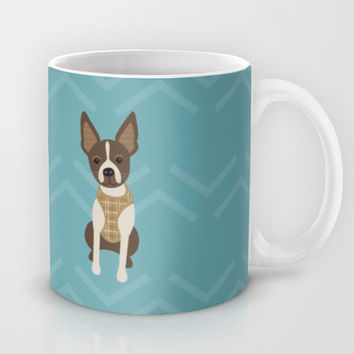 Boston terrier chihuahua mix dog (Bochi) - Green Mug by mollykd