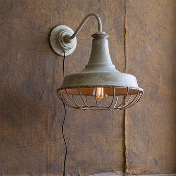 Wall Sconce Lamp w/Cage