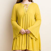 Plus Size Bellamie Bell Sleeve Tunic Top