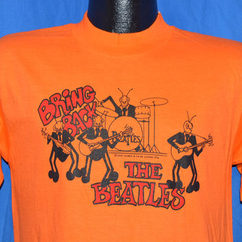 70s Bring Back the Beatles David Peel 1976 Rock Album Orange t-shirt Medium