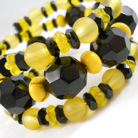 Black and Yellow Bracelet Stack Teen Jewelry